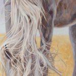 Gemälde von Julia Belot: Araber, Öl auf Leinwand, 170 cm x 65 cm, 2019