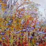 Gemälde von Julia Belot: Astern (5), Öl auf Leinwand, 100 cm x 120 cm, 2018