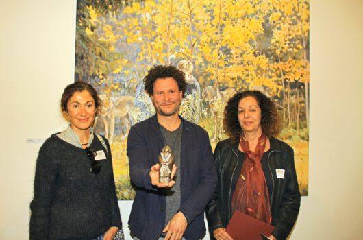Photo : © Ingrid Nöhrenberg, Sankt Andreasberg - The laureates of the Andreas Art Prize 2019 (from left): Julia Belot (award), Andreas Art Prize winner Tom Kretschmer and Schirin Fatemi (award)