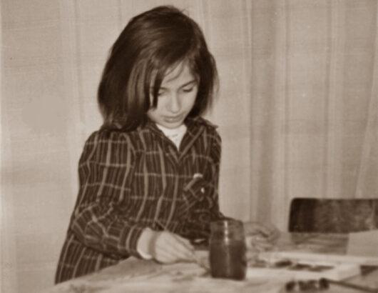 Julia painting on 12. January 1977