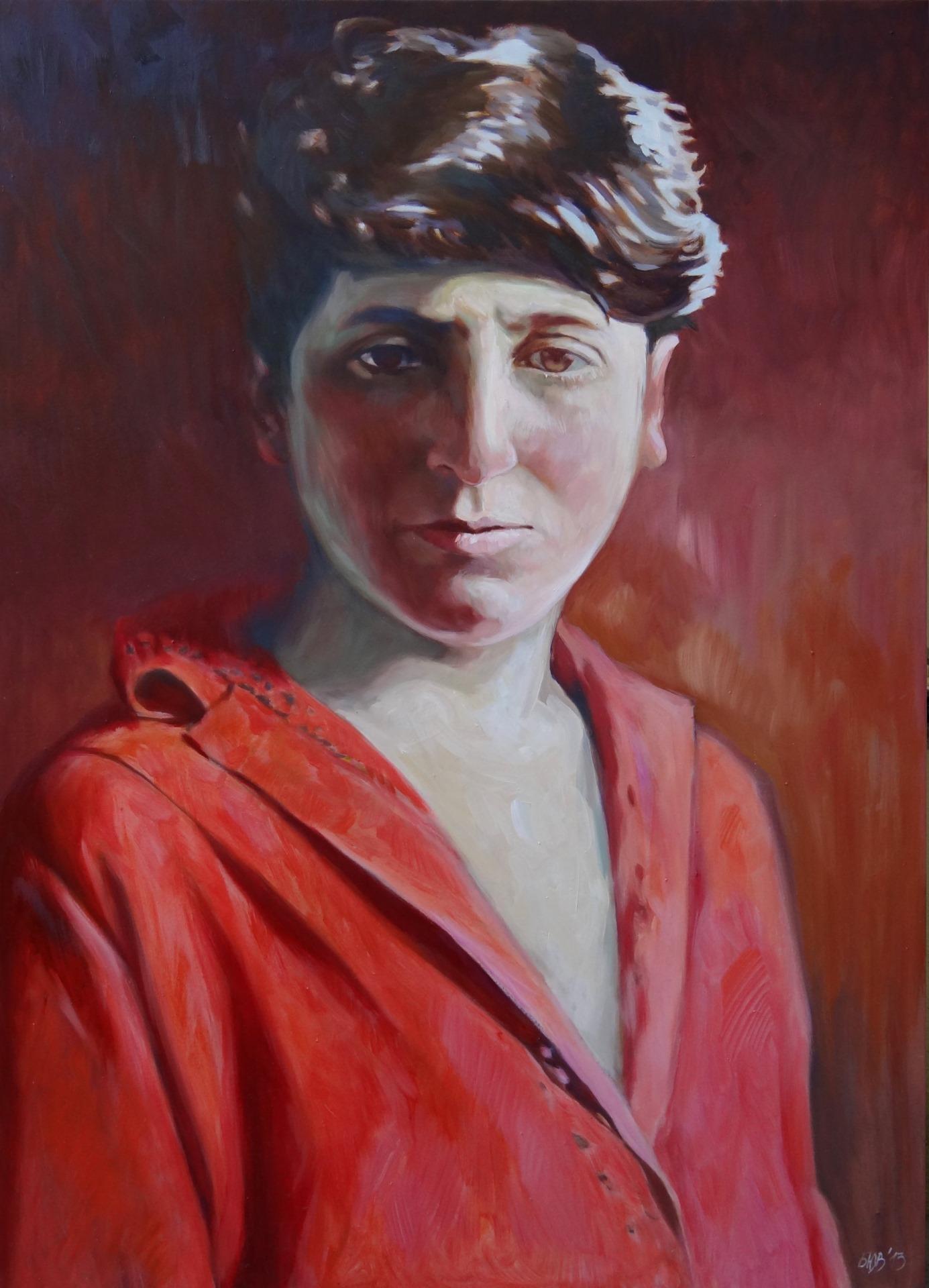 Gemälde von Julia Belot: Käte Frankenthal, Öl auf Leinwand, 140 cm x 100 cm, 2013