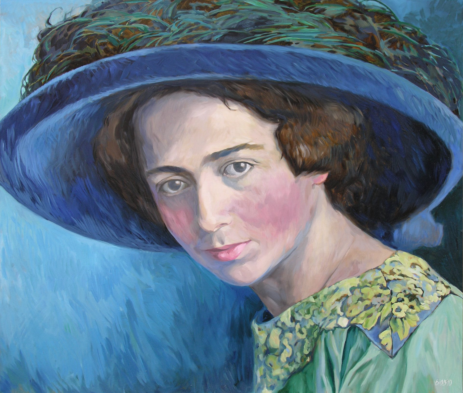 Gemälde von Julia Belot: Käthe Finlay Freundlich, Öl auf Leinwand, 140 cm x 160 cm, 2010