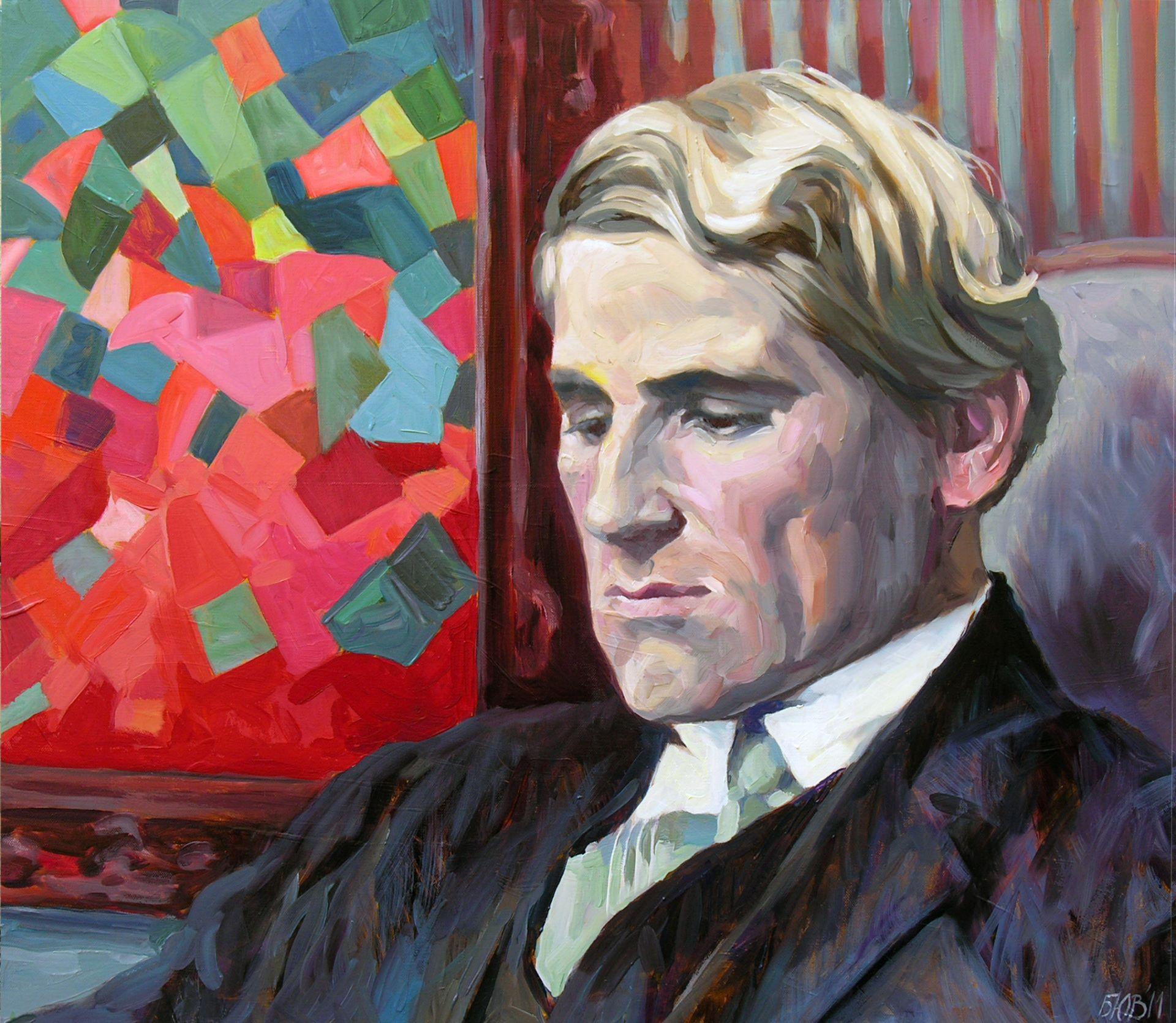 Gemälde von Julia Belot: Otto Freundlich, Öl auf Leinwand, 70 cm x 80 cm, 2011