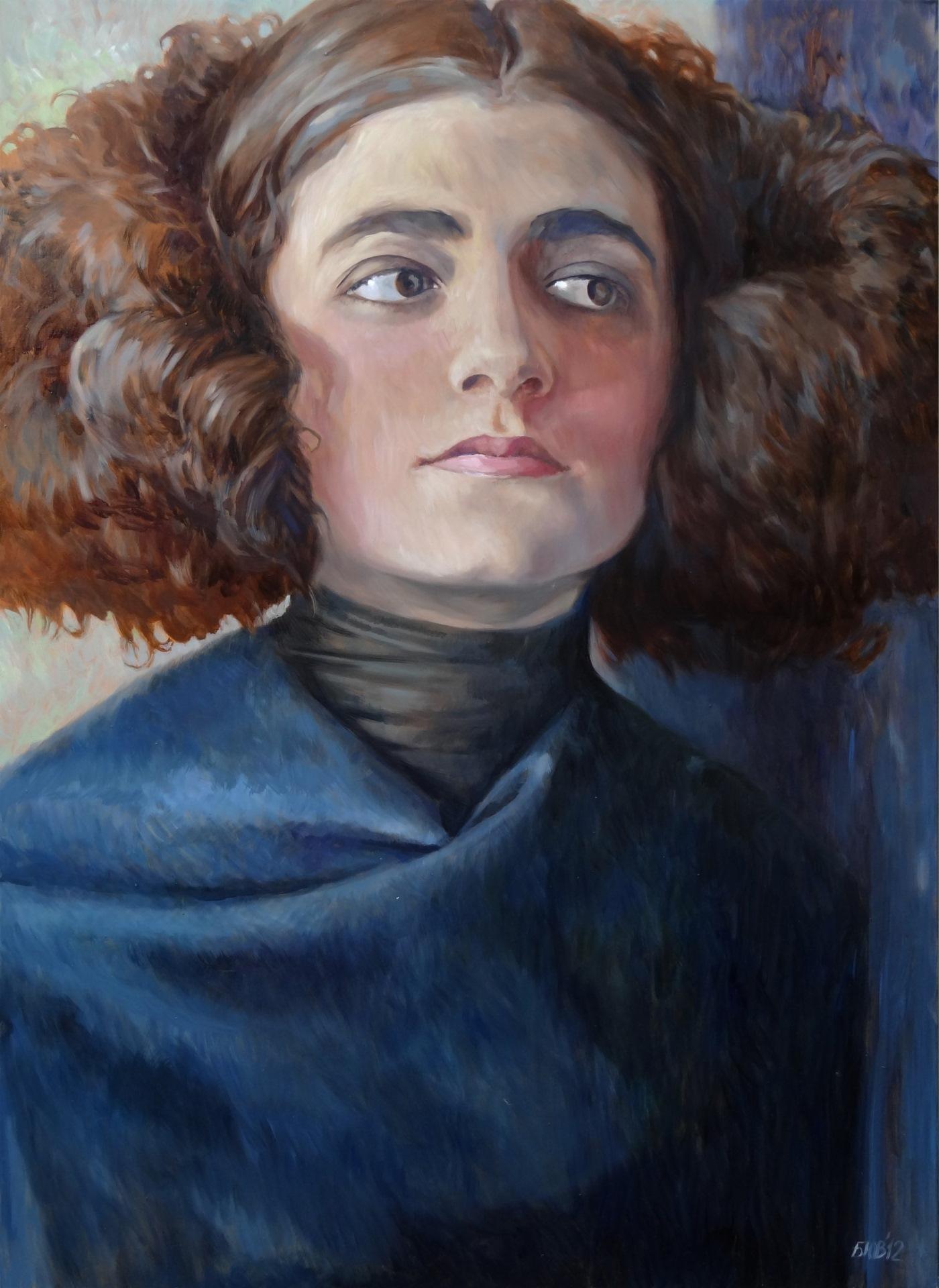 Gemälde von Julia Belot: Ruth Klinger, Öl auf Leinwand, 140 cm x 100 cm, 2012